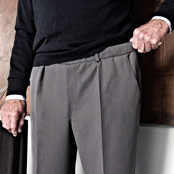 mens pants with elastic waistband