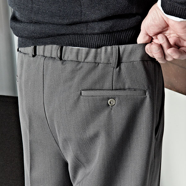 IN-CA pants with elastic waistband